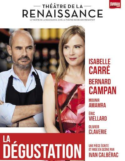 La dégustation  avec Isabelle Carré et Bernard Campan